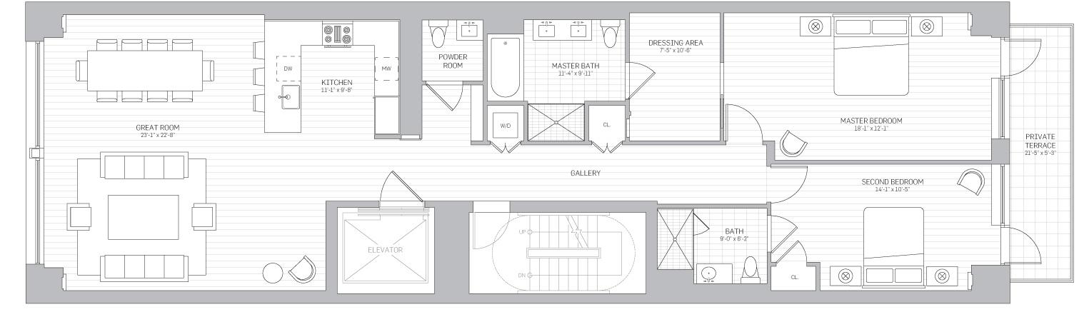 Floors 2 to 5